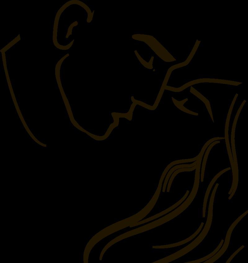 TENSTICKERS. 情熱的なキスカップル愛壁ステッカー. シルエットの情熱的なキスのカップルは、リビングルームであなたの家にセンセーショナルな感覚を作成する2人のキスのステッカーデザインが大好き
