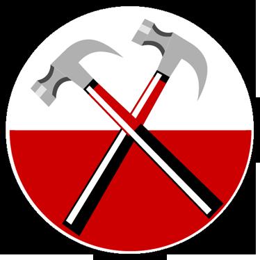 TenStickers. Naklejka dekoracyjna logo Pink Floyd. Naklejka dekoracyjna przedstawiająca logo brytyjskiego zespołu rockowego Pink Floyd. Obrazek jest dostępny w wielu wymiarach.