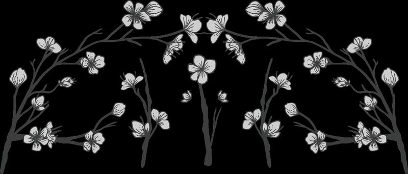 TENSTICKERS. 花のヘッドボードウォールステッカー. あなたの家でより良い睡眠を作成するための寝室用の特別な装飾用の花の木のヘッドボードウォールアートステッカーこのデザインは素敵です。