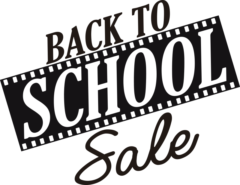 TenStickers. Back to school  Shop Window Vinyl. Holiday sales window front decal for your mirror surfaces in the shop to promote sales. This design is very easy to apply and  you can choose the size.