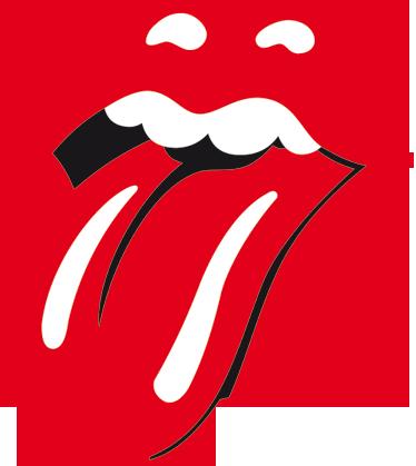 TenStickers. Naklejka dekoracyjna logo Rolling Stones. Przyciągająca uwagę naklejka dekoracyjna przedstawiająca logo angielskiego zespołu rockowego The Rolling Stones.