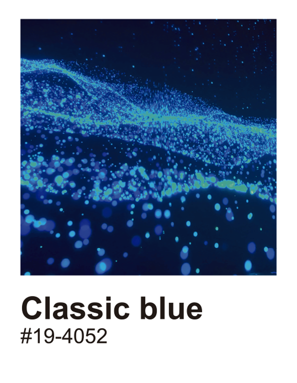 TenStickers. 经典的蓝色乙烯基墙艺术. 蓝色调墙艺术贴纸设计,美化您的客厅或卧室。该产品易于使用,您可以选择自己喜欢的尺寸。