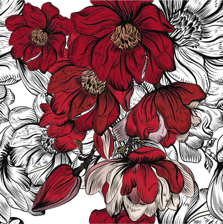 TenStickers. Ikea furniture decal. A border furniture sticker with red rose flower to decorate your furniture at home in the living room or dinning. This design is easy to apply.