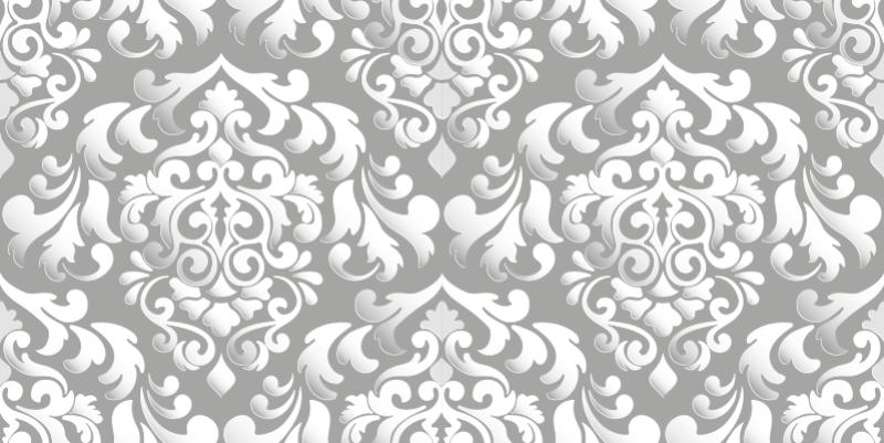 TenVinilo. Vinilo adhesivo gris vintage de muebles . Deshazte de las superficies aburridas de los muebles con este vinilo de muebles con estampado floral gris que creará un aspecto elegante para este espacio.