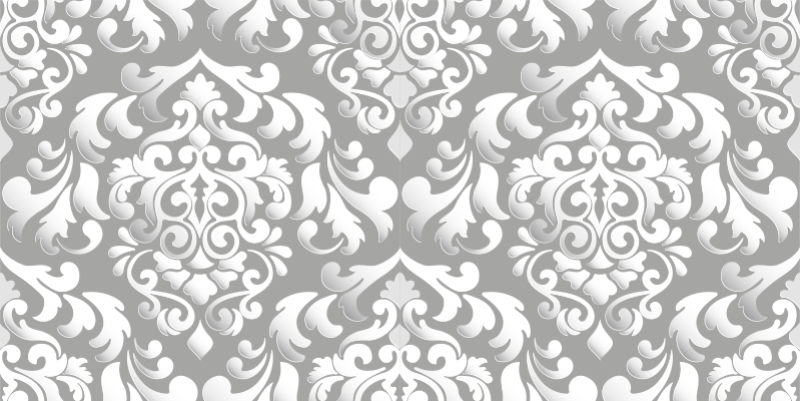 TenStickers. 复古灰色花纹家具贴花. 这款灰色花卉图案家具贴纸可消除无聊的家具表面,为该空间营造出优雅的外观。