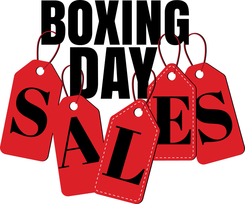 TenStickers. Boxing day tags window decal. Business sales window decal for festive giveaway to promote more sales for your shop. This design will create awareness in huge style for your shop.