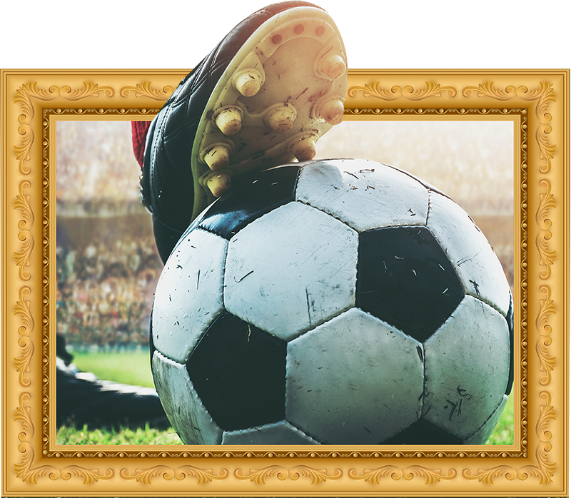 TenStickers. 3d Football Frame sticker. Football visual effect wall sticker design that you will love to decorate your home with to keep you happy about your sport. Easy to apply design.