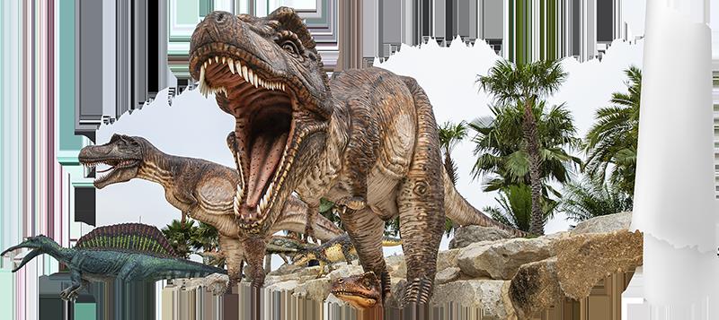 TenStickers. Jurassic parc wanddekor 3d. Ein jurapark mit visuellen effekten von dinosauriern, mit dem sie ihr zuhause dekorieren können. Dieser entwurf ist einfach anzuwenden und sie können die größe wählen.
