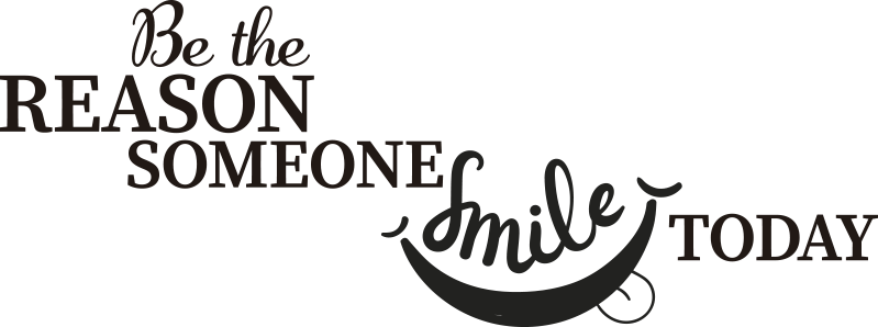 TenStickers. Smile today motivational sticker. A motivational quote wall decal for personal growth that is decorative for your home and you can chose it in any colour and size you prefer.