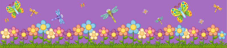 TenStickers. Spring flowers skirting wall  sticker. A decorative spring flower border sticker with butterfly in colours that will be beautiful to decorate your your home.Easy to apply design.