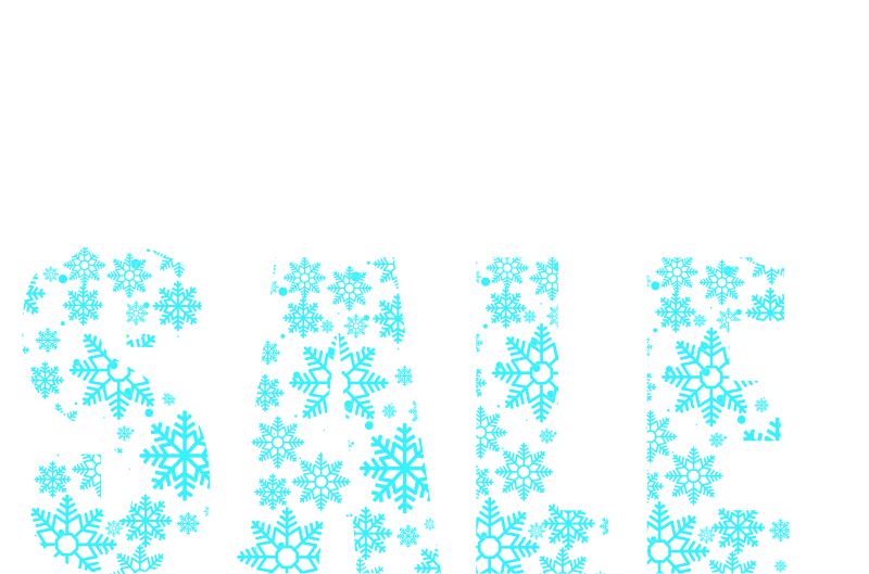 TenStickers. January snowflakes window decal. A snow flakes shop window decal design for your shop window surface to promote sales. This design on your window will attract customers to patronise.