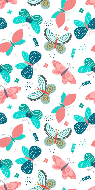 TenStickers. Naklejka na okno w różne motylki. Dekoracyjna naklejka z motylami, którą pokochasz, gdyż w kolorowy sposób upiększy powierzchnię Twojego okna. Łatwa do przyklejenia