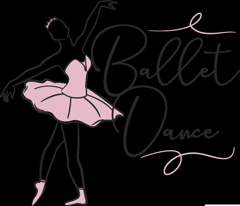 TenVinilo. Vinilo de silueta de bailarina con frase. Vinilo pared de silueta de bailarina vestida de rosa. En el diseño se ve a la niña balanceándose en el estilo de baile del ballet.