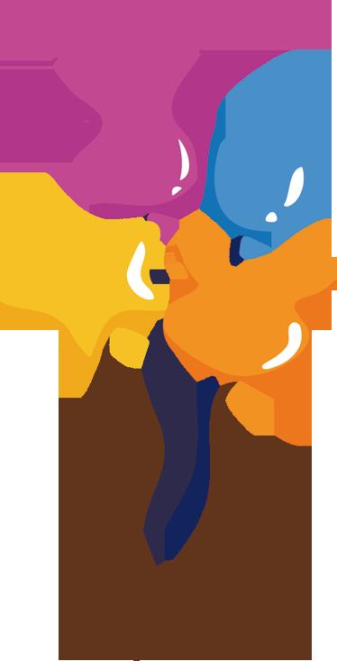 Vinilo Infantil Globos De Colores Con Formas Tenvinilo - Globos-con-formas