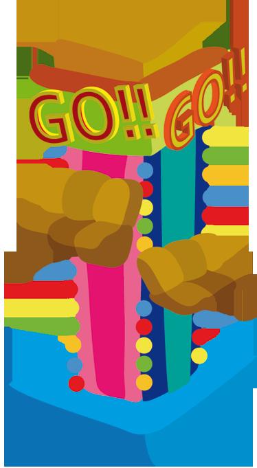 TenStickers. Sticker kinderen pretpark. Sticker voor de decoratie van de kinderkamer of speelhoek van uw kind. Transformeer de speelhoek om tot een pretpark met deze muursticker.
