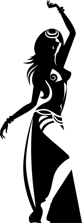 TenStickers. Sexy Silhouette Dancer Wall Sticker. Decals - Silhouette illustration of a belly dancer in traditional clothing. Playful and sensual design feature ideal for homes and businesses.