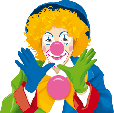 TenStickers. Colourful Clown Kids Sticker. A colourful sticker of a friendly and fun clown with typical red nose. Decorate your kids room with this colourful decal as if it was a circus!