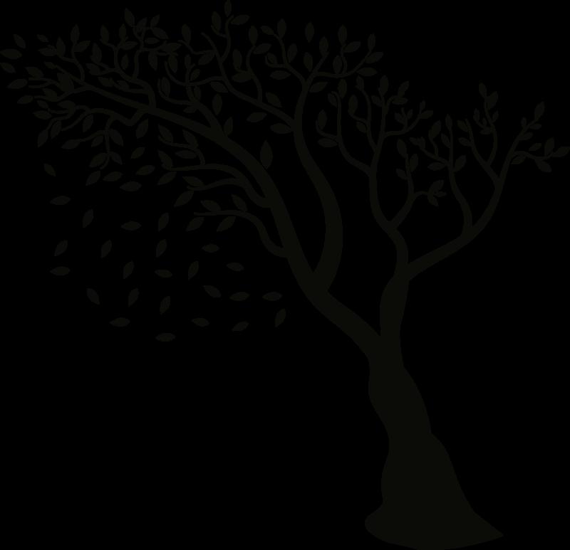 TenStickers. Herbstbaum wandtattoo. Einfach anzubringender wandaufkleber eines herbstbaums, den sie in jeder farbe und größe ihrer präferenz haben können. Dieser entwurf verschönert ihr zuhause.