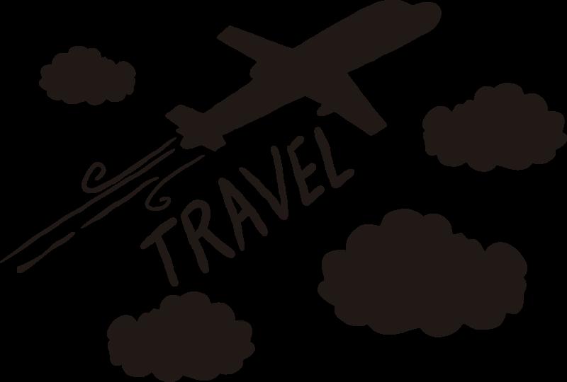 TenStickers. 飞机与云插图墙艺术. 用这架飞机在大气层中穿过云层飞行的墙贴装饰您的孩子或青少年房间的墙。您可以选择颜色。