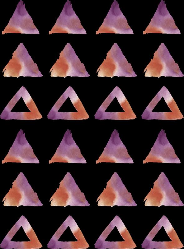 TenStickers. Aquarel driehoeken muursticker. Onze eenvoudig aan te brengen zelfklevende zelfklevende muursticker voor tieners kamer ontworpen in geometrische driehoek vorm in aquarel. U kunt de gewenste grootte kiezen.