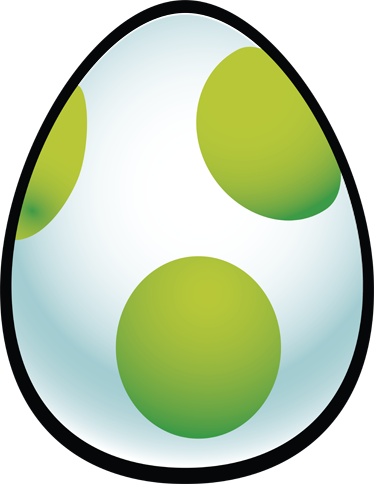 TenStickers. Super Mario 2 Yoshi Egg. Kids Stickers - Illustration design inspired by the world of Super Mario. Yoshi Egg. Ideal for fans of the legendary game.