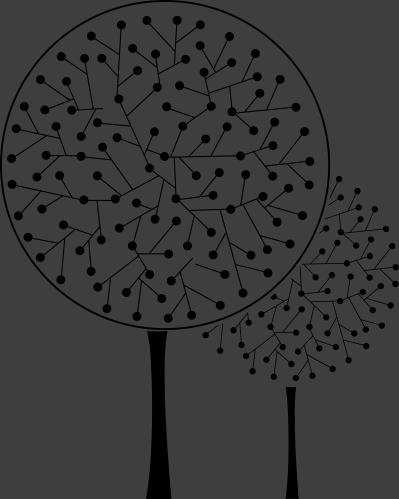 TenStickers. Kunst Baum Aufkleber. Mit diesen besonderen Bäumen als Wandtattoo können Sie Ihrem Zuhause eine künstlerische Note verpassen.