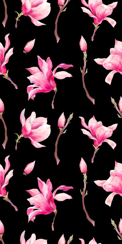 TenStickers. оформление окна украшения завода магнолии. добавьте нотку красоты на оконную поверхность дома с нашей виниловой наклейкой для окон из растений магнолии, которая разработана в красочном стиле, чтобы порадовать вас.