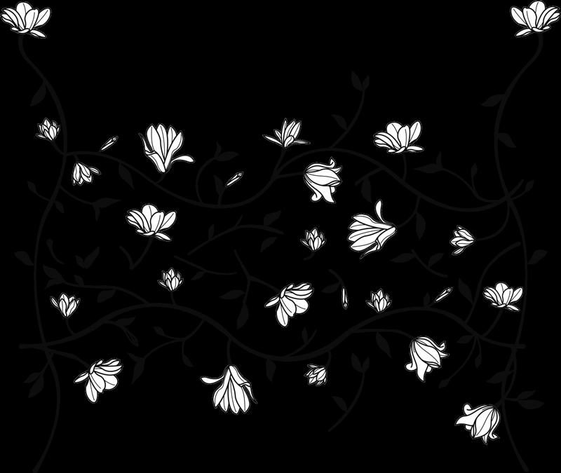 TENSTICKERS. マグノリアフローラルフローラルウォールデカール. よくパターン化された装飾用の花で作成され、寝室を飾る壁アートフラワーステッカーを購入してください。