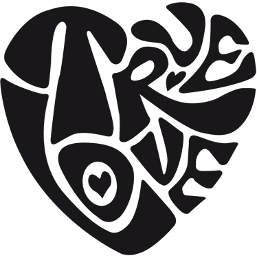 TenStickers. True Love Window Sticker. A heart shaped design made out of the words 'True Love'. A design from our collection of heart stickers to decorate your windows!