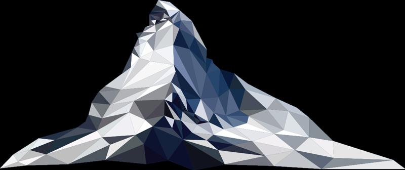 TenVinilo. Vinilo decorativo de montaña nevada. Vinilo pared de montaña de diseñada en un patrón geométrico en una hermosa apariencia de color para decorar cualquier superficie plana.