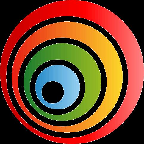 TenStickers. Colourful Concentric Sticker. Vinilo decorativo de círculos de colores concéntricos con los que podrás crear un efecto alucinante en tu hogar.