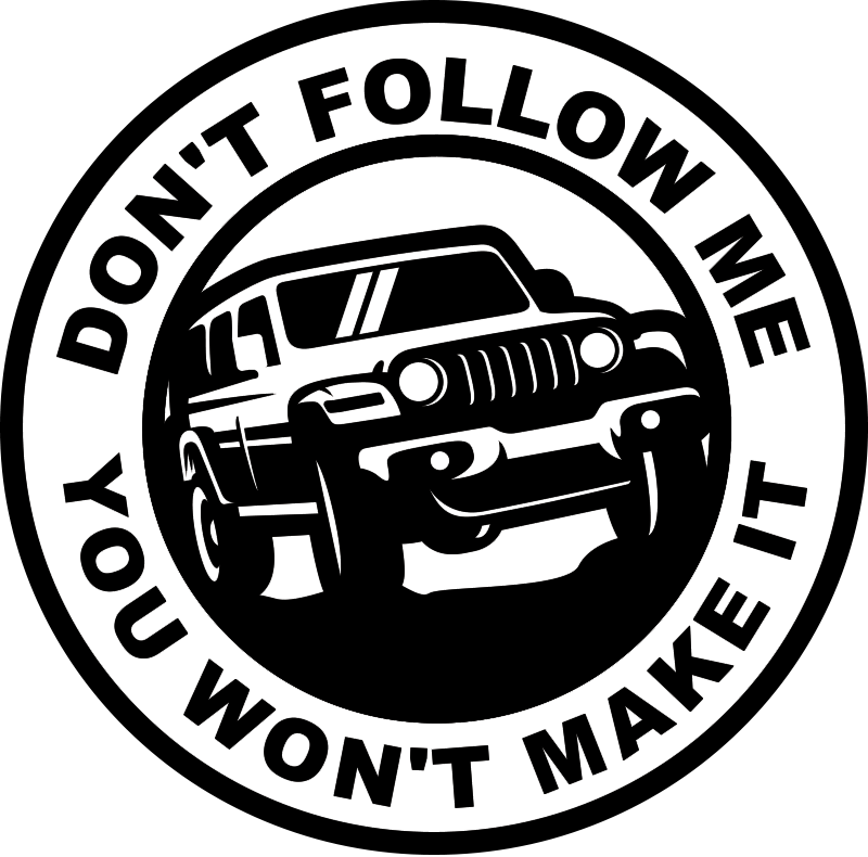 TenStickers. Don't follow me Car Decal. A car sticker design with an  instruction text of '' don't follow me . Beautiful design for any vehicle, car and motorbike .