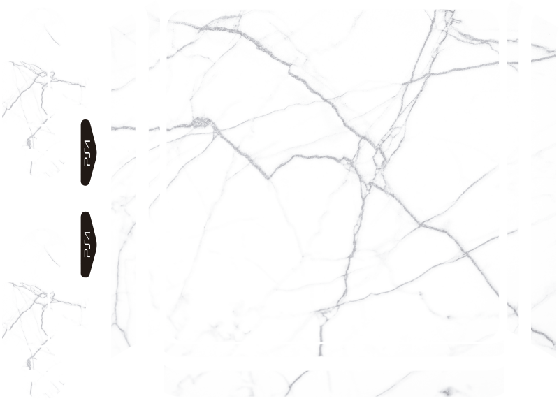 TenStickers. White marble PS4 Skin ps4 sticker. A ps4 skin wrap vinyl sticker designed with a white marble texture to decorate the surface of your game controller and it is in different sizes.