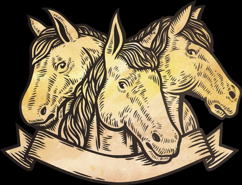 Tenstickers. 3 hevosen kasvot tarra. Parasta vinyylisuunnittelua, joka koostuu kolmesta hevosen kasvosta kauniilla ulkomuodolla koristamaan kodin seinätilaa. Helppo levittää mihin tahansa tasaiseen pintaan.