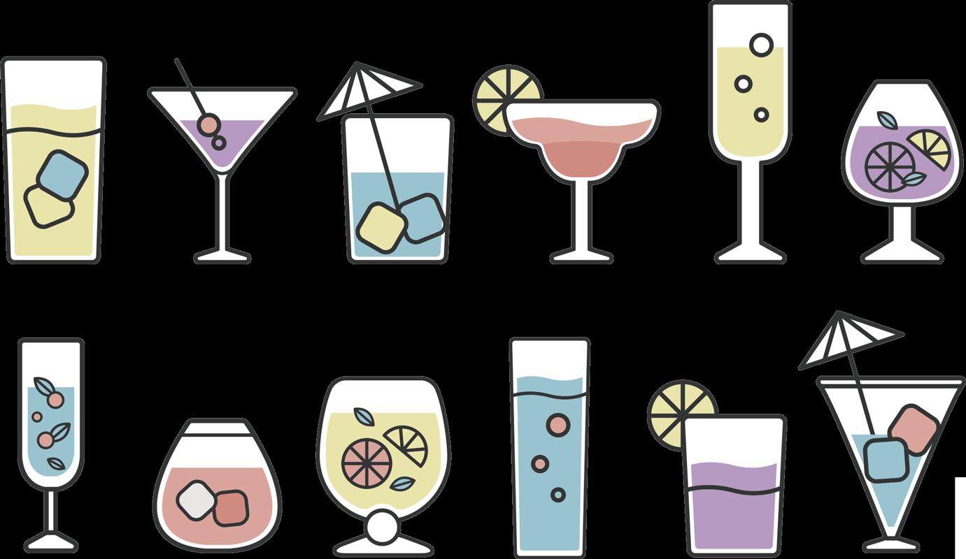 TenVinilo. Vinilo decorativo de cócteles . Vinilo decorativo para cocina creado con diferentes bebidas cócteles que se pueden aplicar de cualquier forma y posición. Producto adhesivo fácil de aplicar.