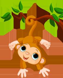 TENSTICKERS. 木に掛かっている猿の子供のステッカー. あなたのラップトップのための木の上に楽しい猿デカール。私たちの猿の壁のステッカーからのこの素晴らしいビニールは、あなたのラップトップを飾るのに理想的です!