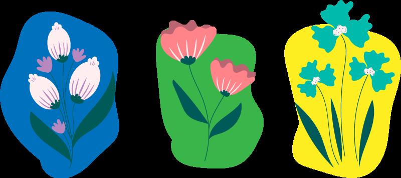 TenVinilo. Vinilo decorativo flores para contenedor. Pegatinas para cubos de reciclaje de flores preciosas con los que mejorar tu decoración de forma fácil y económica ¡Envío a domicilio!