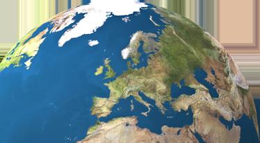 TENSTICKERS. 惑星地球のラップトップのステッカー. ヨーロッパの壮大な景色をノートパソコンに飾る壮大なステッカー。あなたのラップトップに新しい外観を与える素晴らしいビニール。