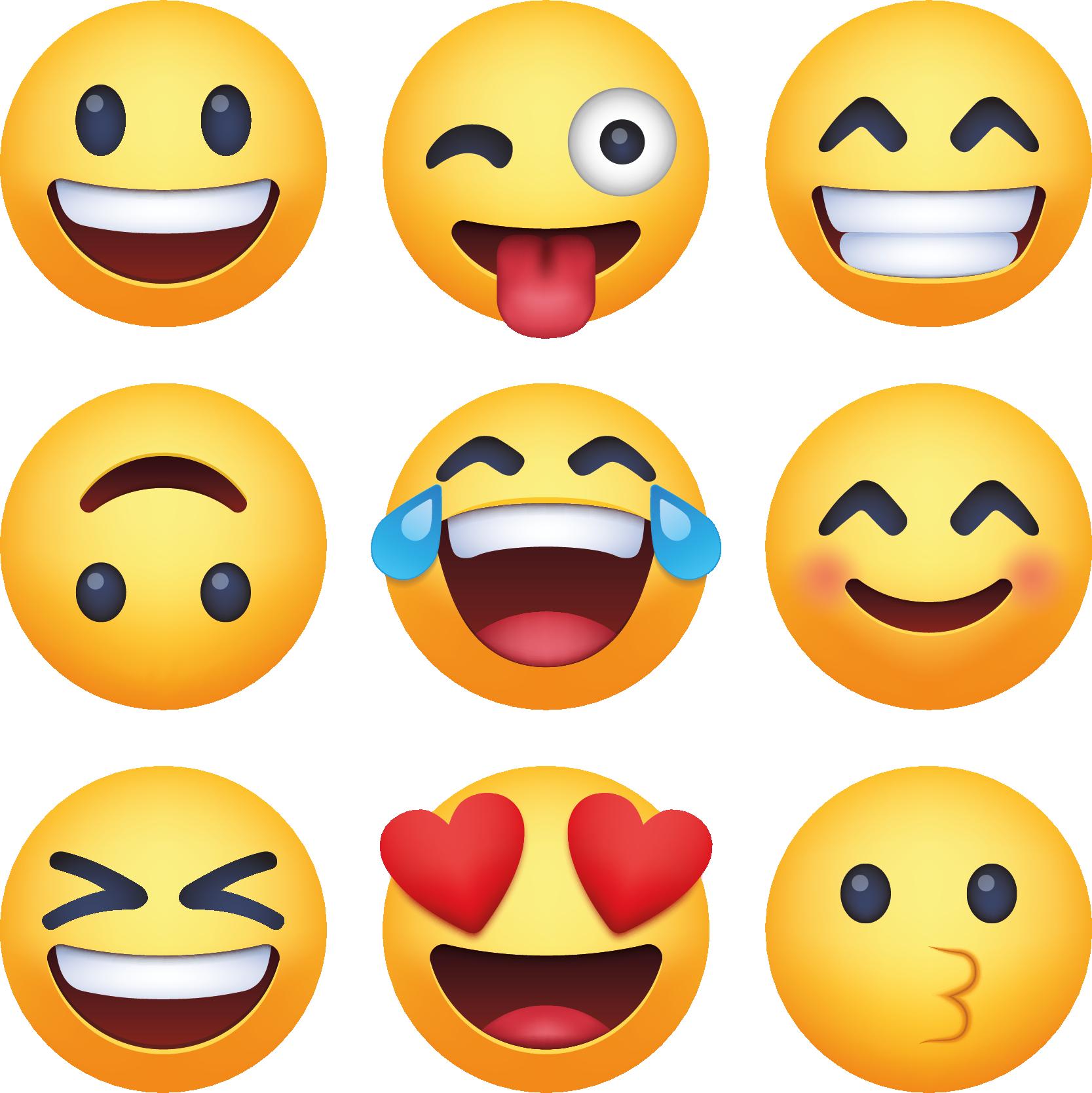 Tenstickers. Emoji hymiö emoji seinä tarra. Koristeellinen tarramuotokuva hymiö-emoji-kuvakkeesta käytettäväksi missä tahansa valitussa tilassa. Malli on saatavana erikokoisina.