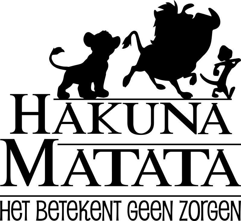 TenStickers. zelfklevende sticker met bioscoop hakuna matata. Film citaat zelfklevende muursticker voor kinderen met het thema '' hakuna matata '' mooi en ideaal ontwerp voor kinderruimte. Eenvoudig aan te brengen.