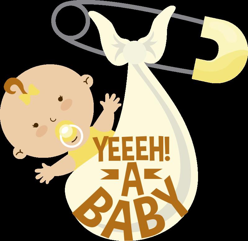 TenStickers. Hieperdepiep hoera. Baby in deken babykamer muursticker. Decoratieve muursticker voor kinderkamer om een baby te verwelkomen. Er staat een baby-welkomsttekst op met een baby op een deken. Gemakkelijk aan te brengen op elk vlak oppervlak.