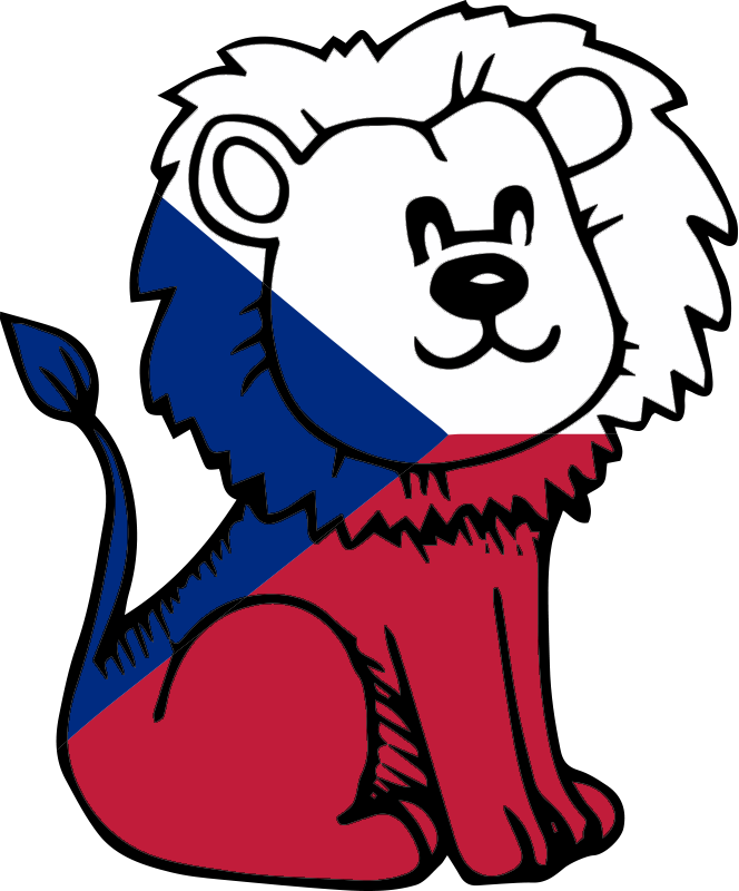 TenStickers. adhesif deco chambre enfant lion tchèque. stickers muraux décoratif et magnifique pour les enfants avec la caractéristique d'un pissenlit. autocollant facile à appliquer sans bulle d'air.