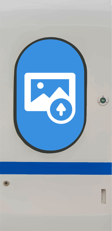 TenStickers. Metro doors glass door sticker. An original visual effect metro door sticker that is customisable with any image of your choice. All you need to do is provide the image you want.