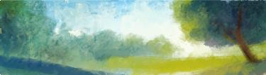 TenVinilo. Vinilo decorativo paisaje apaisado. Fotomural de autor. Imagen con hermosas vistas del horizonte.