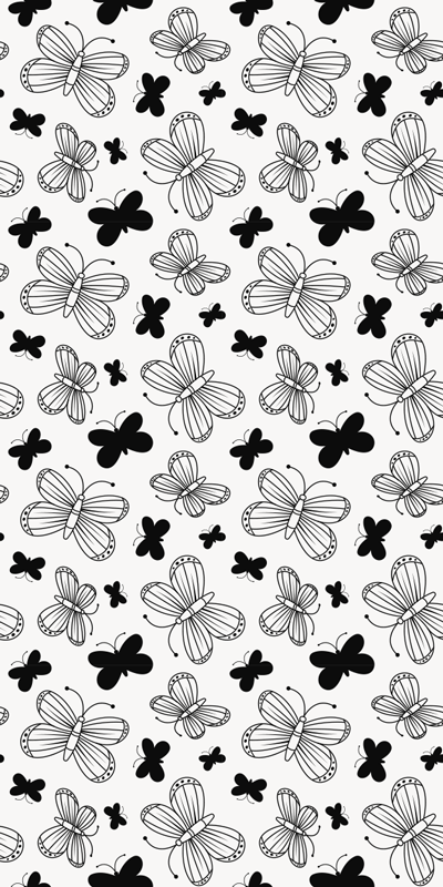 TenStickers. Black and white butterflies fridge wrap. Buy this amazing black and white butterflies fridge wrap sticker to decorate the fridge surface . It comes in customisble size.