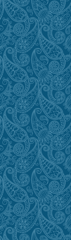 TenStickers. Blue paisley pattern fridge wrap decal. Buy our decorative vinyl fridge wrap sticker with the design of blue paisley flowers on it . It comes in customisable size.