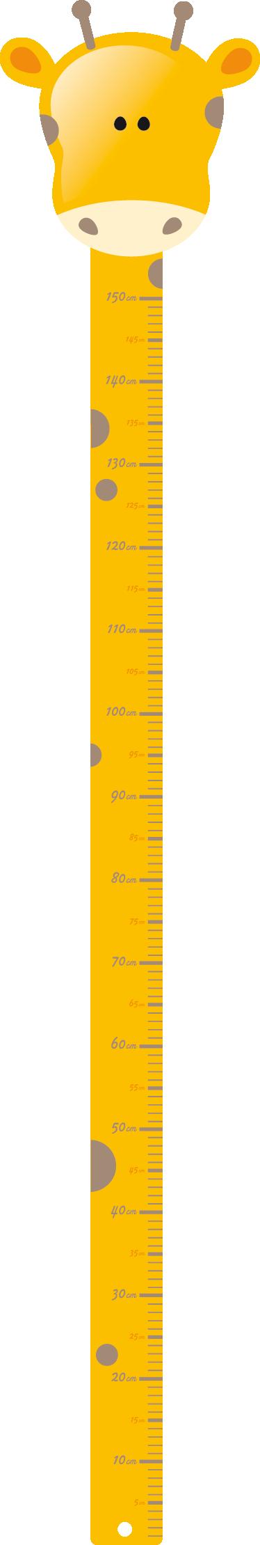 TenStickers. 长颈鹿高度图孩子贴纸. 一个创意的长颈鹿墙贴,以衡量你孩子的身高!完美的贴花来装饰你孩子的房间。