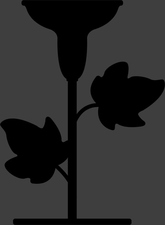 TenStickers. Adesivo de candelabro com folhas. Vinil autocolante de um candelabro clássico com folhas. Autocolante decorativo elegante para decorar sua casa.