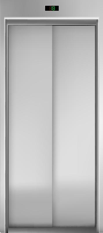 TenStickers. Elevator glass door sticker. Decorative door sticker design of an elevator. Choose the it in the size that best fit the surface to apply it. Easy to apply.