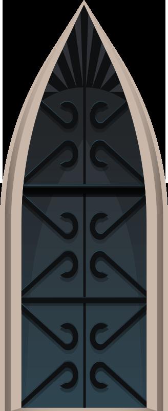 TENSTICKERS. 中世の門ガラスドアステッカー. この素晴らしい中世の門のドアのステッカーは、まさにあなたの家のすべての部屋の側面を根本的に変えるために必要なものです!